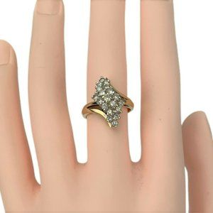 Jewelry - 14k Gold .57ct Diamond Cluster Ring Size 6.5